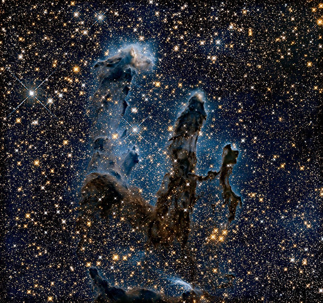 Behold! See the Hubble telescope's iconic 'Pillars of Creation' view in infrared