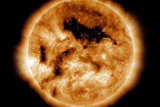 During solar minimum, coronal holes on the Sun can last longer.
