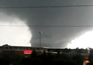 sideways tornado video image