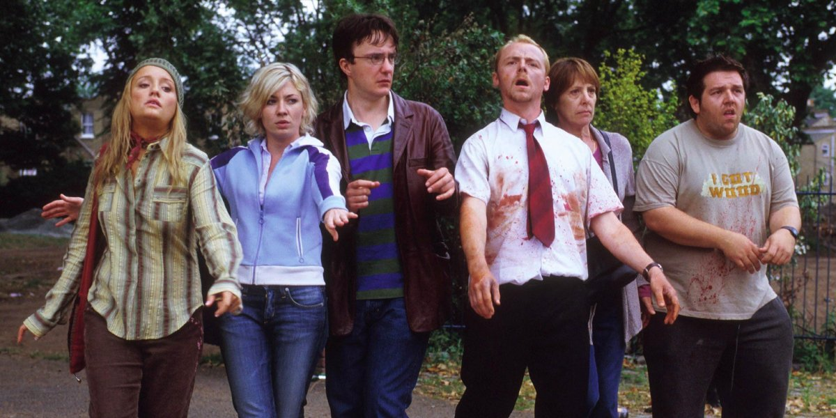 The cast of Shaun of the Dead