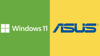 Windows 11 and Asus logo
