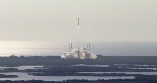 A United Launch Alliance Atlas 5 rocket carrying the NROL-33 satellite launches into space from Cape Canaveral Air Force Station in Florida on May 22, 2014. The mission will deliver a classified payload into orbit for the U.S. National Reconnaissance Offi