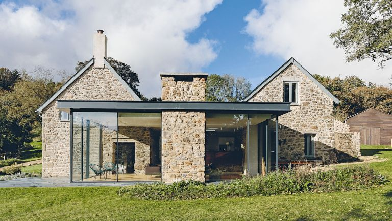 Glass box extension on a period property