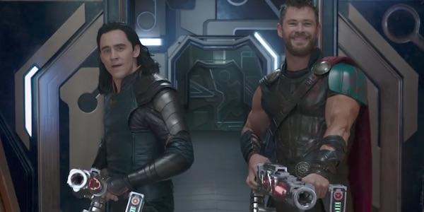 Thor and Loki with their guns