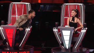 John Legend reacts to Ariana Grande blocking him on The Voice