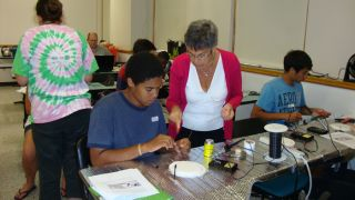 Students learn how to solder