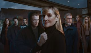 Before We Die: a composite shot of the key characters: Dubravka, Davor, Stefan, Christian, Hannah, Billy, Tina and Bianca