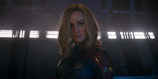 Captain Marvel enjoying the fight