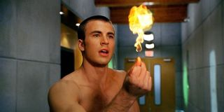 Chris Evans snapping a finger