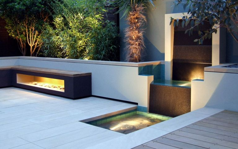 low maintenance contemporary garden design in Regent's Park, My Landscapes