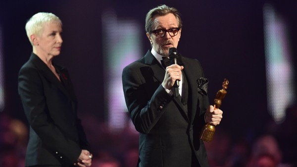 Gary Oldman and Annie Lennox at the Brits