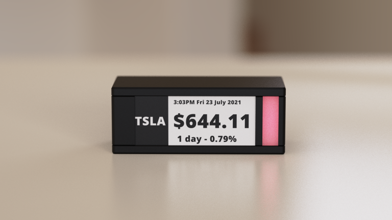 This e-paper stock tracker is an object of great beauty