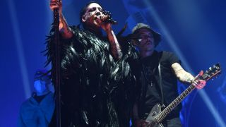 Manson and Depp onstage at London's SSE Arena Wembley in December last year