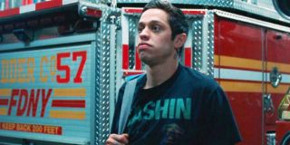The King of Staten Island Pete Davidson in the firehouse
