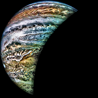 Jupiter's swirling cloud tops
