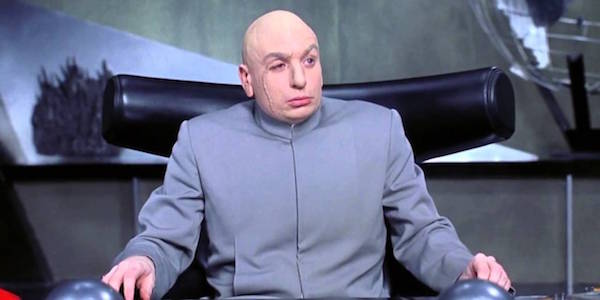 Dr. Evil staring in Austin Powers