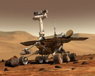 NASA's twin Mars rovers, Spirit and Opportunity, have now spent nine years on the surface of Mars.