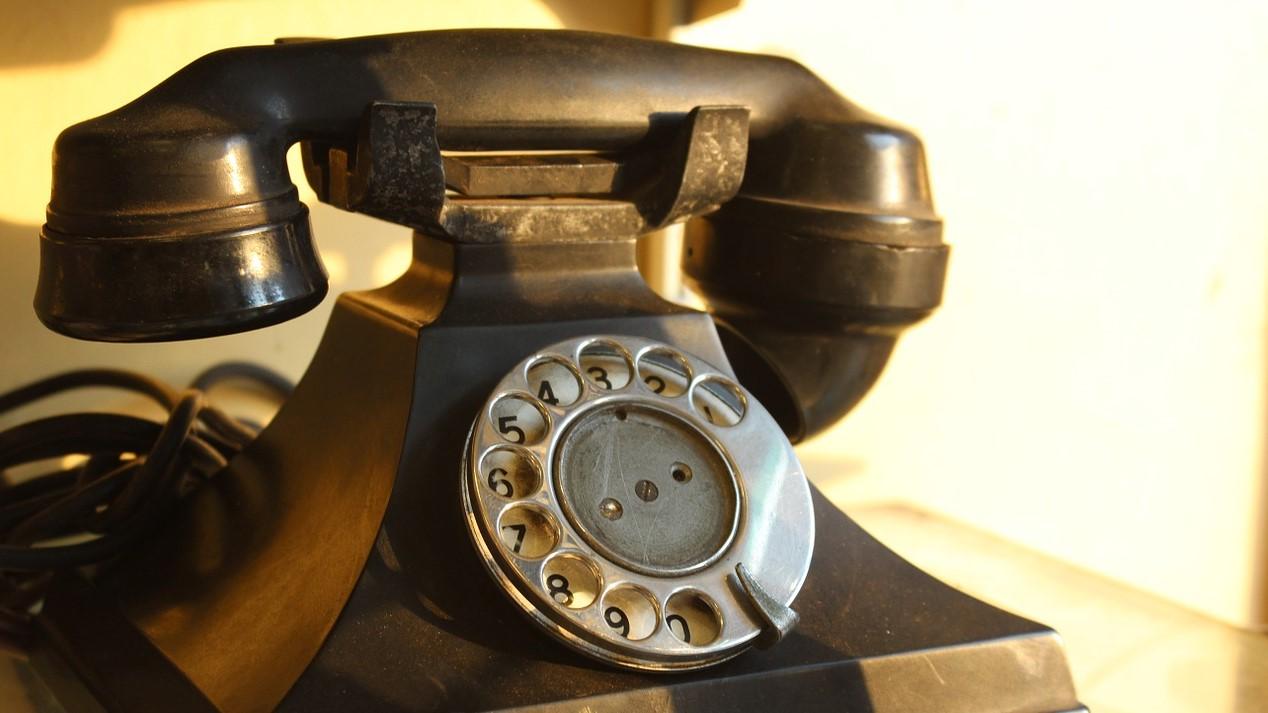Old school rotary telephone