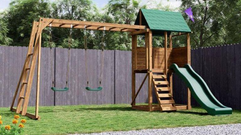 Dunster house climbing frame from Amazon