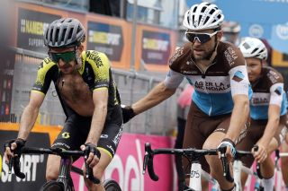 Giro dItalia 2020 103th Edition 3rd stage Enna Etna 150km 05102020 Simon Yates GBR Mitchelton Scott Tony Gallopin FRA AG2R La Mondiale photo Luca BettiniBettiniPhoto2020