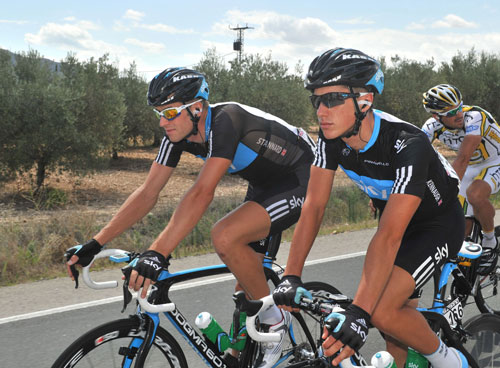 Peter Kennaugh and Ian Stannard, Vuelta a Espana 2010, stage six