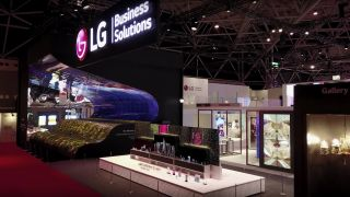 LG's ISE 2019 booth