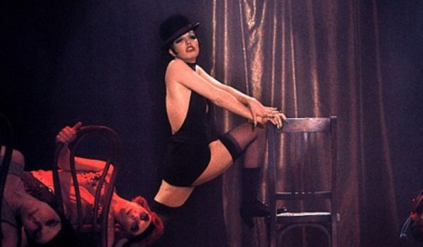 Cabaret Sally performing her act on the stage