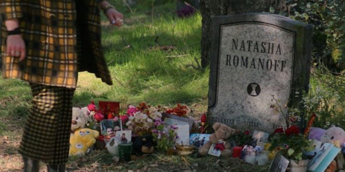 Natasha Romanoff grave stone in Black Widow
