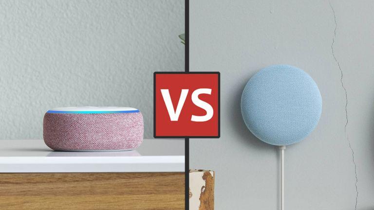 Amazon Echo Dot and Google Nest Mini