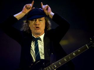 Angus Young has a whole lotta CDs and DVDs for you. But not a lotta wattage