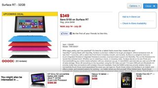 Surface fire sale
