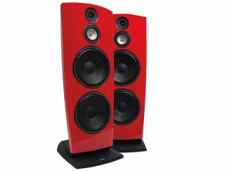 Jamo s popular R907 speakers go faster in red