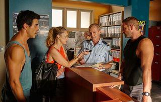 Home and Away - Justin Morgan, Tori Morgan, Robbo, Sergeant Phillip McCarthy