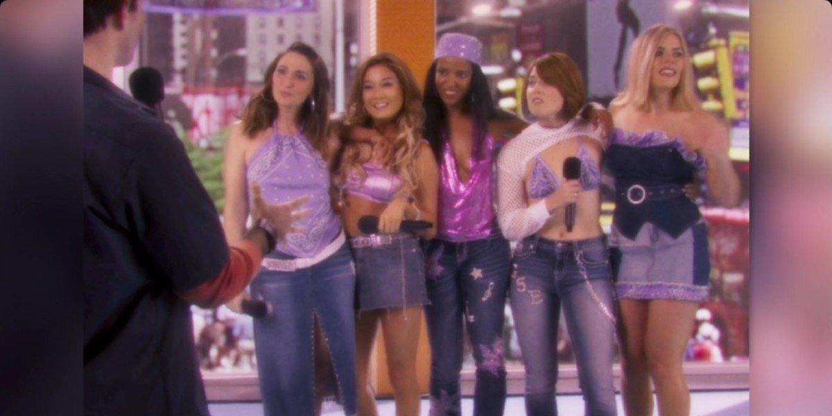 Renee Elise Goldsberry, Busy Philipps, Sara Bareilles, Ashley Park, and  Erika Henningsen in Girls5Eva
