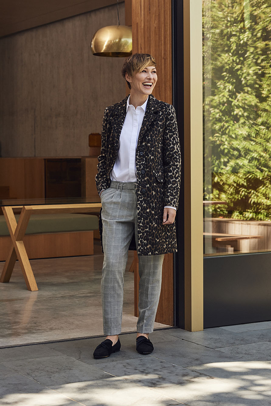 cb0a51a5f2e ... it's no surprise that Emma's edit is packed full of tailoring.  Beautifully cut, we're lusting after her crisp white shirt, belted check  trousers and ...