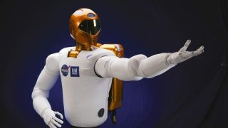 NASA robot stretches out its arm.