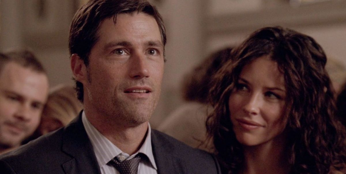 Matthew Fox and Evangeline Lily as Jack and Kate in Lost series finale