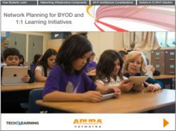 Wi-Fi Planning for BYOD and 1:1 Learning Initiatives