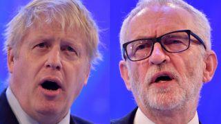 watch general election online:boris johnson and jeremy corbyn