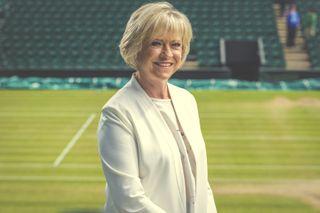 Sue Barker hosts Wimbledon 2021 coverage on BBC1 and BBC2.