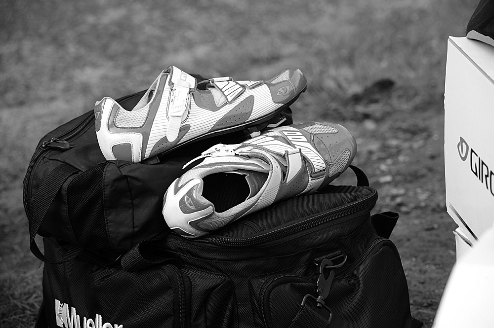 Giro shoes, Rossington Evening 10-mile time trial, August 2011