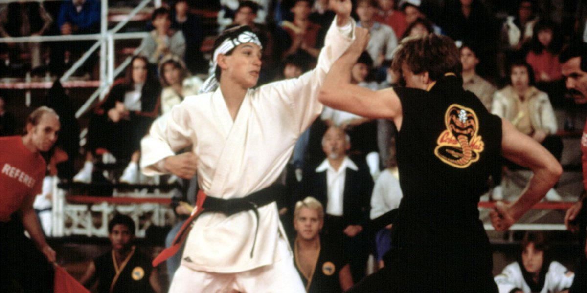 Ralph Macchio in The Karate Kid.