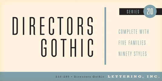 Font of the day: Directors Gothic | Creative Bloq
