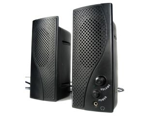 Get yourself a pair of cheap multimedia speakers.