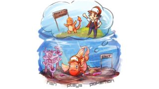 fish plays pokemon