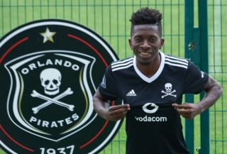 Orlando Pirates forward Jean-Marc Makusu