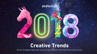 2018 written in a range of creative fonts