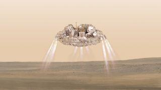 ExoMars' Schiaparelli Lander Touching Down