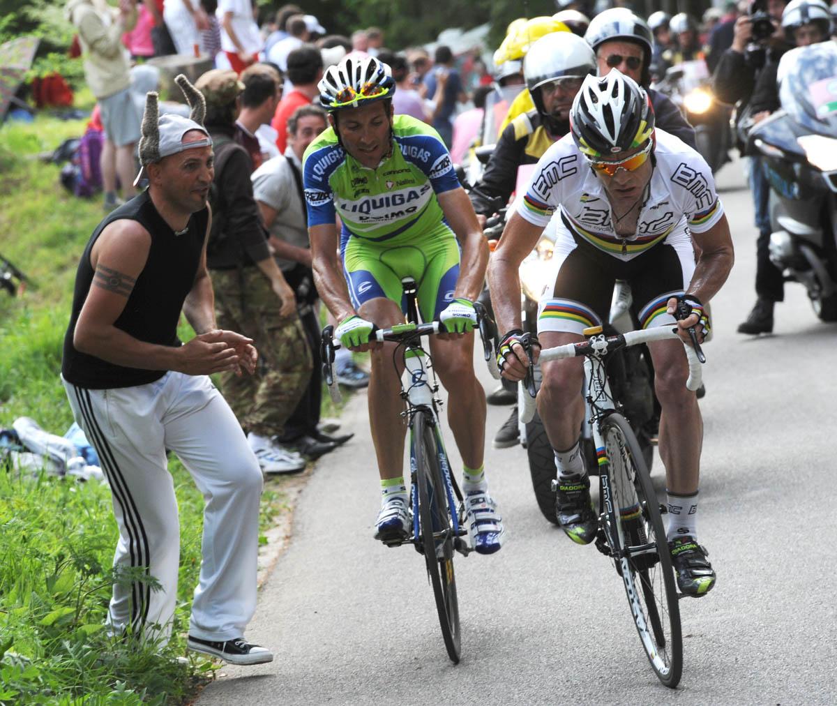 Ivan Basso and Cadel Evans, Giro d'Italia 2010, stage 15Giro d'Italia 2010, stage 15