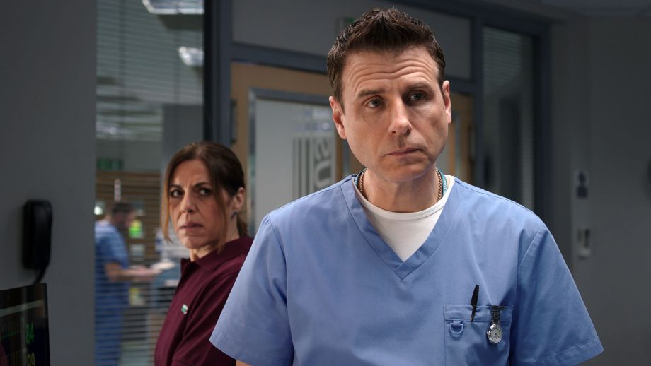 Does watchful Rosa have something to tell David about his son in Casualty?